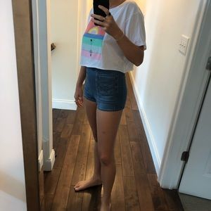 Free People Shorts - Free People High Waisted Jean Shorts